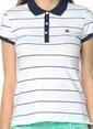 Mavi Polo Yaka Tişört Beyaz